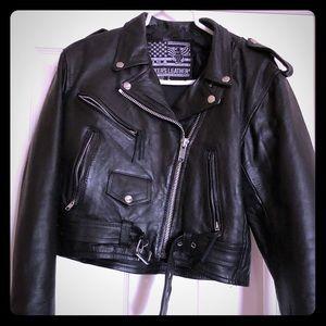 Jackets & Blazers - Women's leather motorcycle jacket